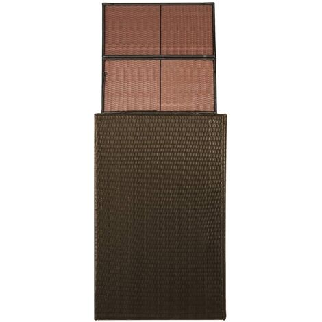 vidaXL Single Wheelie Bin Shed Poly Rattan 76x78x120 cm