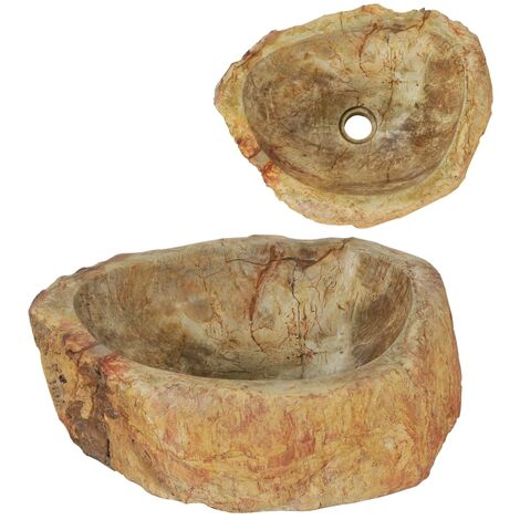 vidaXL Sink 45x35x15 cm Fossil Stone Cream - Cream