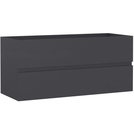 vidaXL Sink Cabinet Grey 100x38.5x45 cm Chipboard - Grey