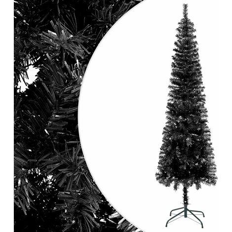 "main image of ""vidaXL Slim Christmas Tree Black 150 cm"""