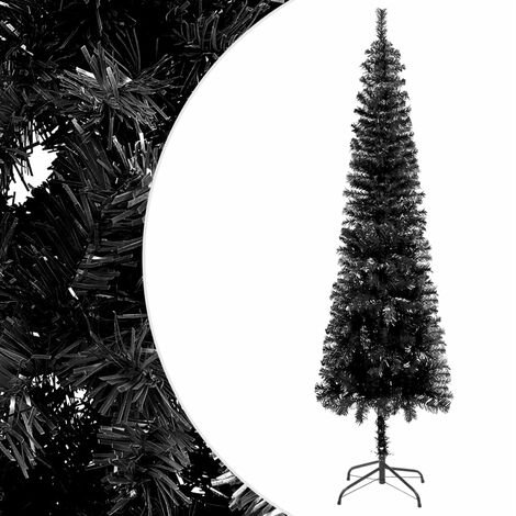 "main image of ""vidaXL Slim Christmas Tree Black 210 cm"""