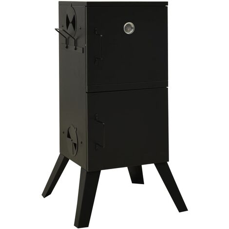 vidaXL Smoker Oven 55x47.5x100.5 cm Steel - Black