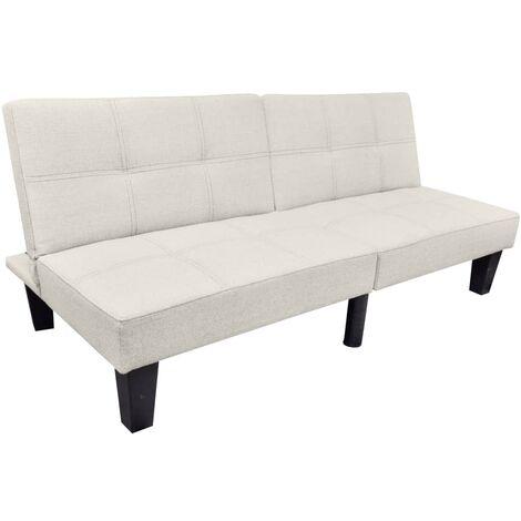 vidaXL Sofá Cama Ajustable Convertible Mueble Versátil Interior Estable Cómodo Acolchado Sala de Estar Chaise Longue Asiento Tumbona Tela Multicolor