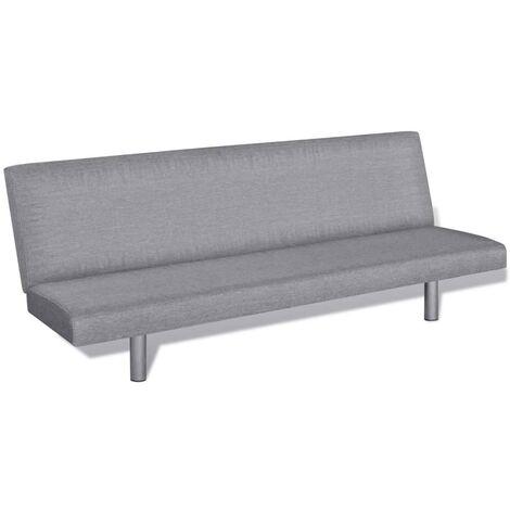 vidaXL Sofá Cama Sillón Salón Comedor Sala de Estar Muebles Mobiliario Decoración Colchón Somier Casa Hogar de Poliéster Multicolor