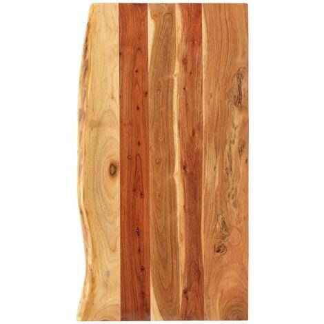 vidaXL Solid Acacia Wood Bathroom Vanity Top Sturdy Wooden Table Accessory Tabletop Washroom Bathroom Worktop Countertop Multi Sizes