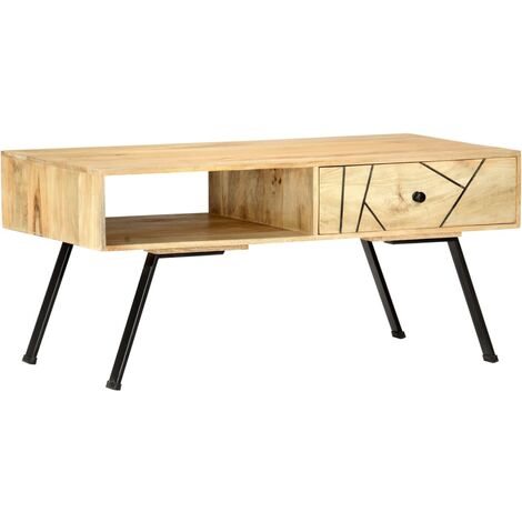 vidaXL Solid Mango/Sheesham Wood Coffee Table Wooden Home Living Room Accent End Side Couch Tea Telephone Table Stand Furniture Multi Colours