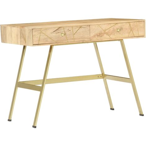 Writing Desk with Drawers 100x55x75 cm Solid Mango Wood