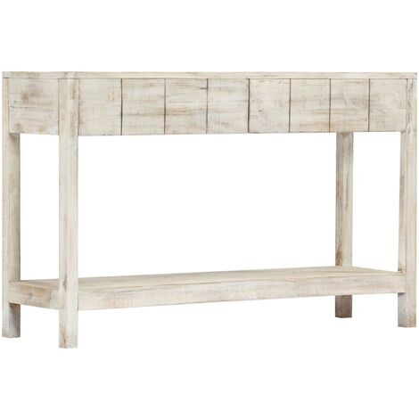 vidaXL Solid Mango Wood Console Table Wooden Home Living Room Bedroom Hallway Accent Side End Couch Entryway Table Furniture Multi Colours