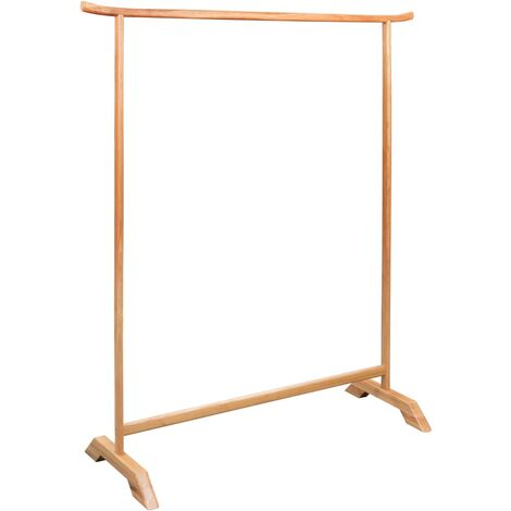 vidaXL Solid Oak Wood Clothes Rack Sturdy Durable Home Changing Room Entryway Furniture Coat Rack Stand Hanger Shelf Wooden Multi Sizes