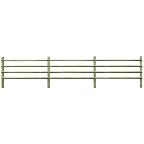 vidaXL Solid Pinewood Garden Fence Outdoor Road Patio Backyard Courtyard Porch Fencing Edging Border Green Impregnated Multi Sizes