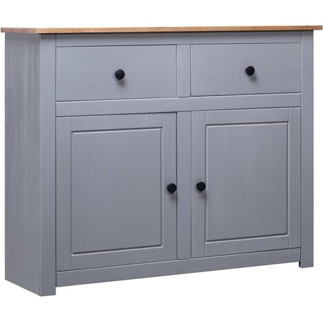vidaXL Solid Pinewood Sideboard Panama Range Home Bedroom Living Room Storage Side Drawer Cabinet Cupboard Organiser Furniture Multi Colours