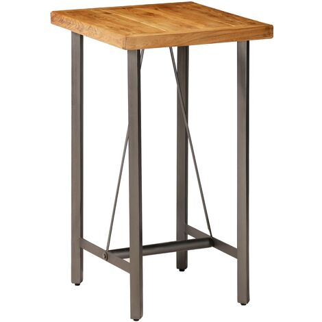 vidaXL Solid Reclaimed Teak Bar Table Kitchen Dining Room Furniture Breakfast Coffee Bar Table Living Room Console Desk Multi Sizes