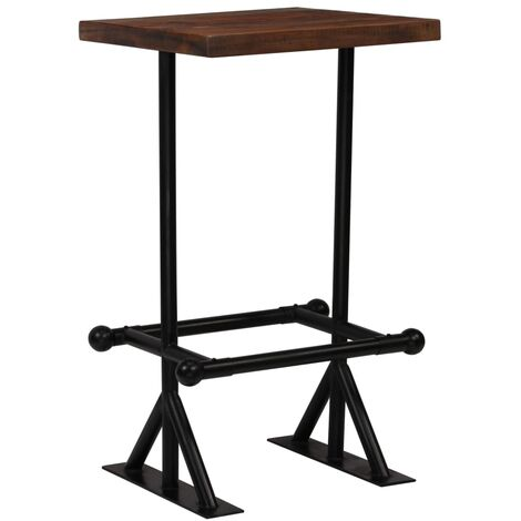 vidaXL Solid Reclaimed Wood Bar Table Dark Brown Bar Dining Table Wooden Table Home Kitchen Dining Room Furniture Rustic Design Multi Sizes