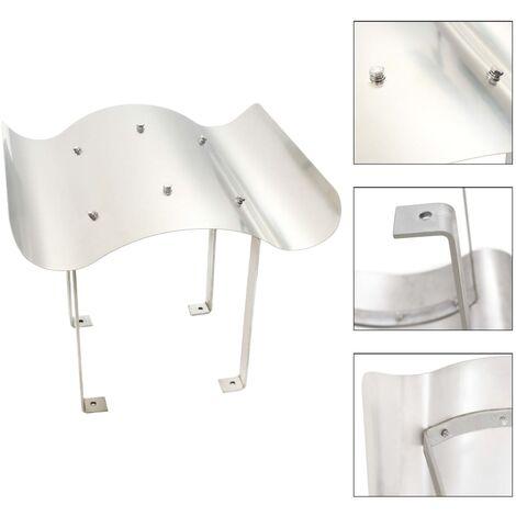 vidaXL Sombrerete de Chimenea Proteger Lluvia Viento Impermeable Cubiertas Protección Exterior Carpa al Aire Libre de Acero Inoxidable Plateado