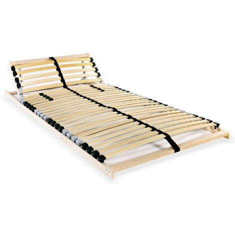 vidaXL Somier de Láminas con 28 Listones de 7 Regiones Estructura de Cama Enrollable Adultos Dormitorio Habitación Muebles Diferentes Dimensiones