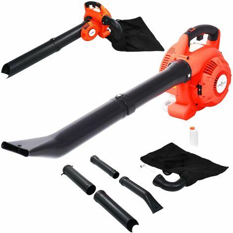vidaXL Soplador de hojas a gasolina 3 en 1 26 cc naranja - Naranja