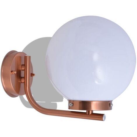 vidaXL Sphere Outdoor Wall Light Stainless Steel Copper - Brown