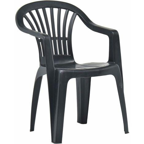 "main image of ""vidaXL Stackable Garden Chairs 45 pcs Plastic White - White"""