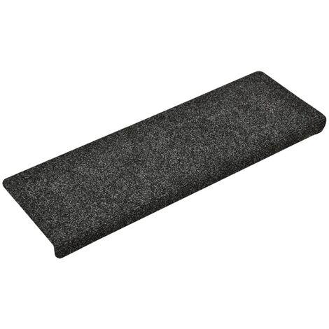 vidaXL Stair Mats 10 pcs Grey 65x25 cm Needle Punch - Grey