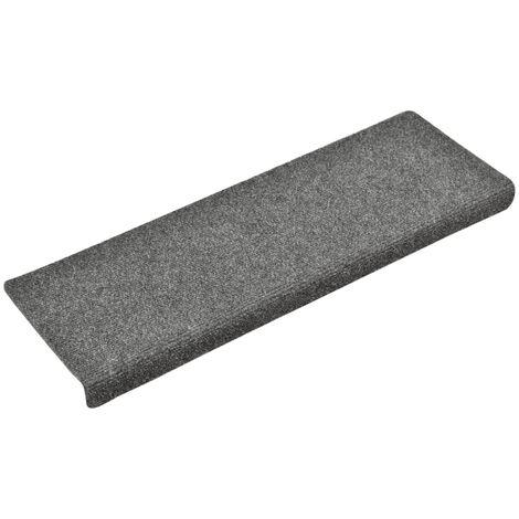 vidaXL Stair Mats 10 pcs Light Grey 65x25 cm Needle Punch - Grey