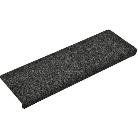 vidaXL Stair Mats 5 pcs Grey 65x25 cm Needle Punch - Grey