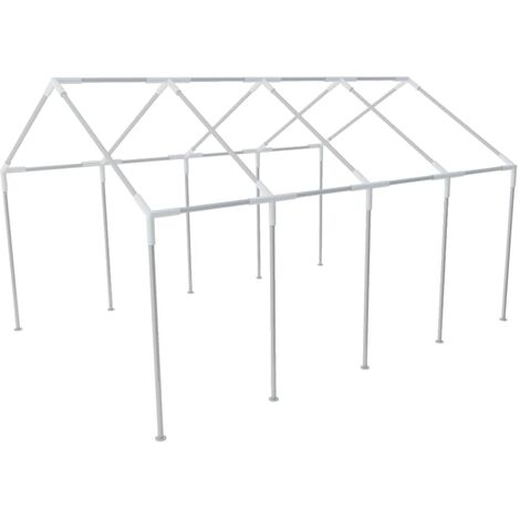 vidaXL Steel Frame for Party Tent Canopy Gazebo Shelter Structure Accessories Outdoor Garden Patio Replacement Support Multi Sizes