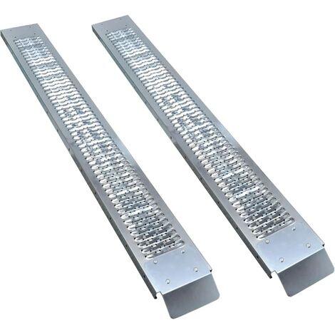 vidaXL Steel Loading Ramps 2 pcs 450 kg