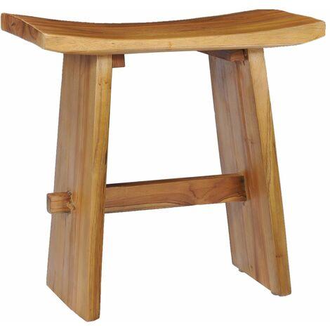 vidaXL Stool Solid Teak Wood - Brown