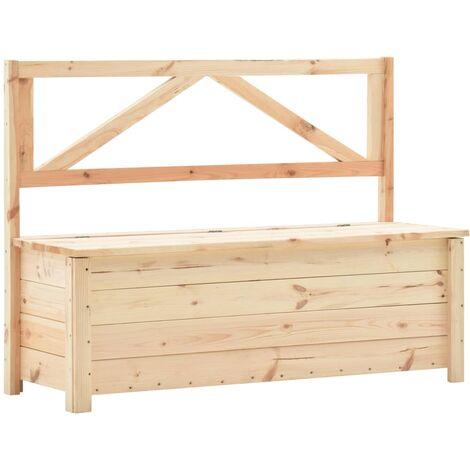 "main image of ""vidaXL Storage Bench 120 cm Solid Pine Wood - Brown"""