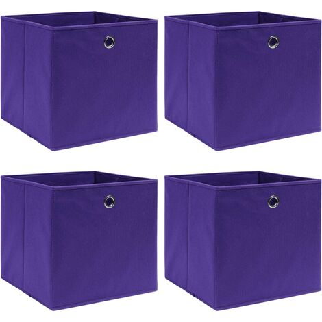 vidaXL Storage Boxes 4 pcs Purple 32x32x32 cm Fabric - Purple