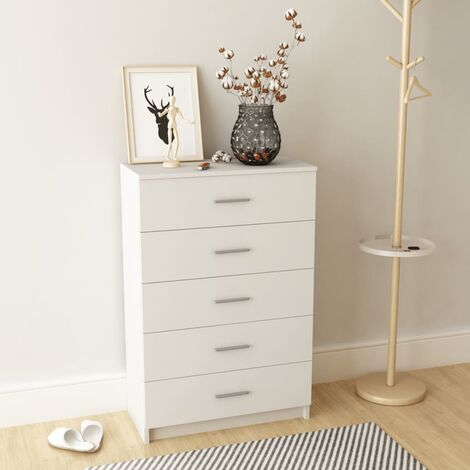 vidaXL Storage Cabinet Home Bedroom Living Room Furniture Clothing Side Locker Chest of Drawers Chipboard Multi Sizes Multi Colours