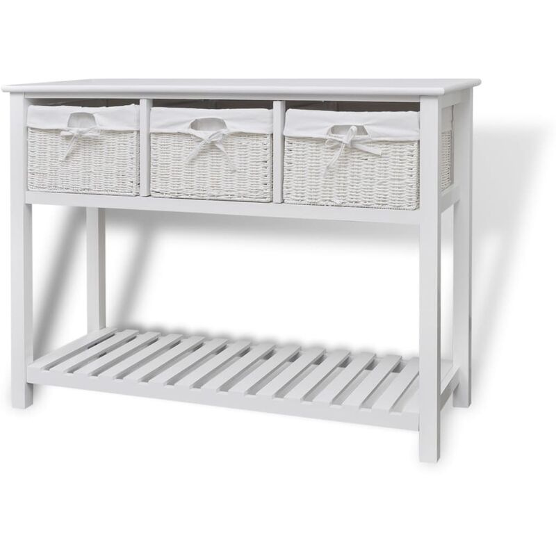 Storage Sideboard White - White - Vidaxl