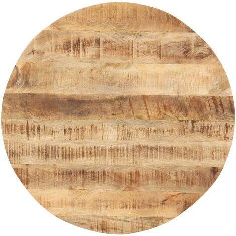 vidaXL Superficie de mesa redonda madera maciza de mango 15-16 mm 80cm - Marrón