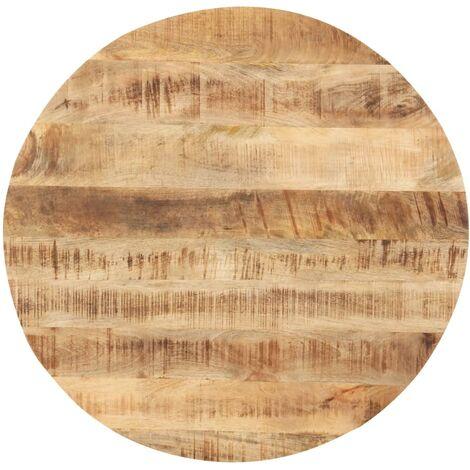vidaXL Superficie de mesa redonda madera maciza de mango 25-27 mm 40cm - Marrón