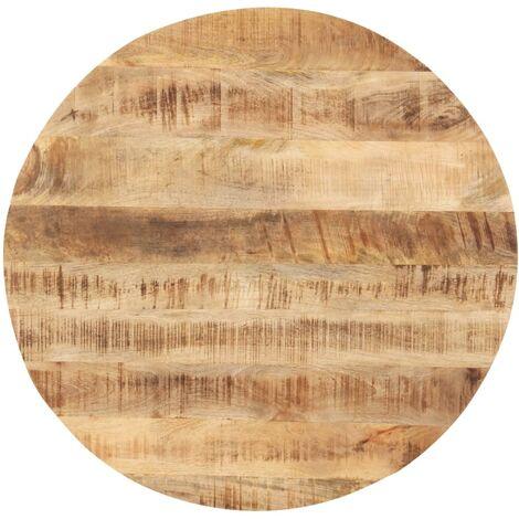 vidaXL Superficie de mesa redonda madera maciza de mango 25-27 mm 70cm - Marrón