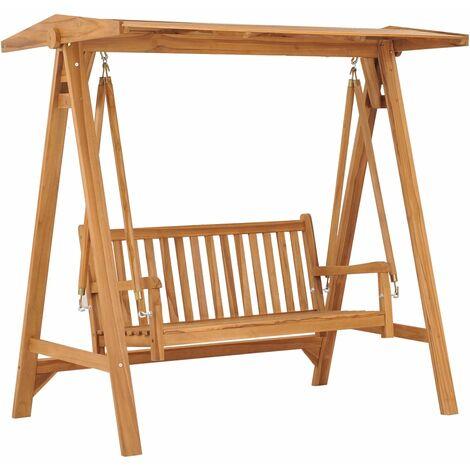 vidaXL Swing Bench 170 cm Solid Teak Wood - Brown