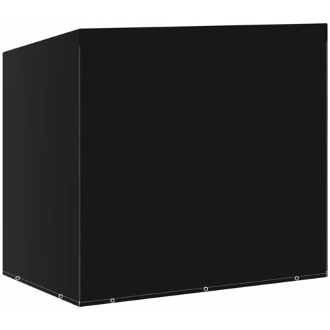 vidaXL Swing Bench Cover 10 Eyelets 2 Zippers 255x145x170 cm - Black
