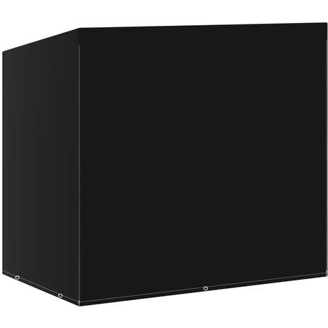 vidaXL Swing Bench Cover 6 Eyelets 135x105x175 cm - Black