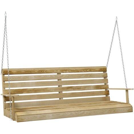 vidaXL Swing Bench Impregnated Pinewood 155x65x60 cm