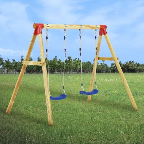 vidaXL Swing Set 230x130x166 cm Pinewood - Brown