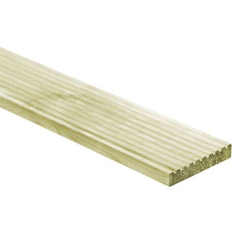 vidaXL Tablas para plataforma 12 unidades madera 150x14,5 cm - Verde