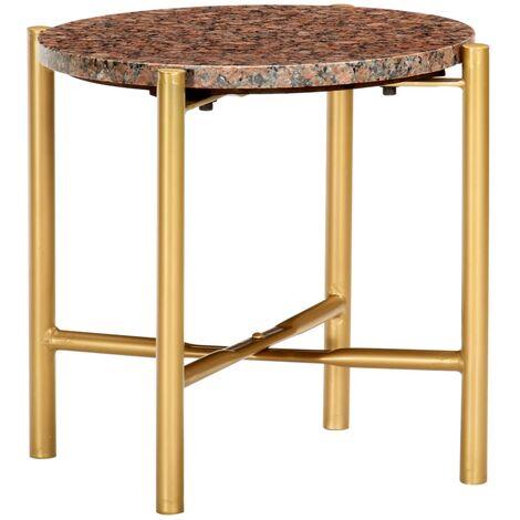 vidaXL Table Basse Pierre Véritable et Texture Marbre Table d'Appoint Table de Salon Canapé Salle de Séjour Intérieur Maison Multicolore Multi-taille