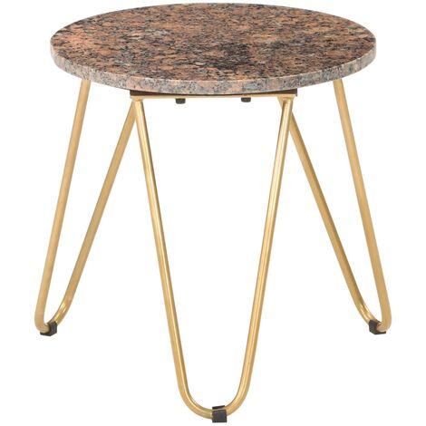 vidaXL Table Basse Pierre Véritable et Texture Marbre Table d'Appoint Table de Salon Canapé Salle de Séjour Maison Dimensions Diverses Multicolore