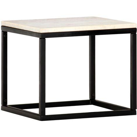 vidaXL Table Basse Pierre Véritable et Texture Marbre Table d'Appoint Table de Salon Canapé Salle de Séjour Maison Intérieur Multicolore Multi-taille