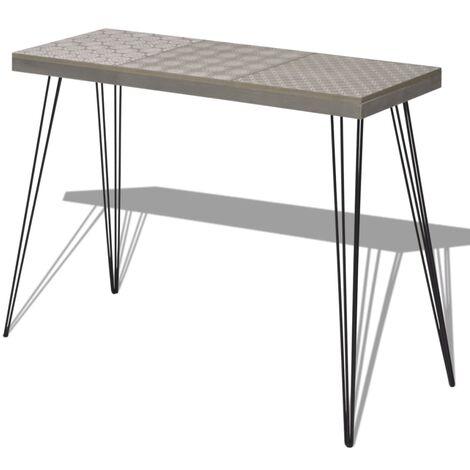 Table console 90 x 30 x 71,5 cm Gris