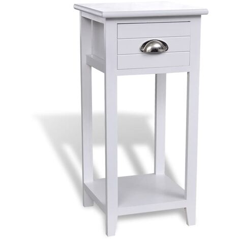 vidaXL Table de Chevet avec 1 Tiroir Table de Nuit Armoire de Chevet Armoire de Lit Chambre à Coucher Maison Intérieur Multicolore