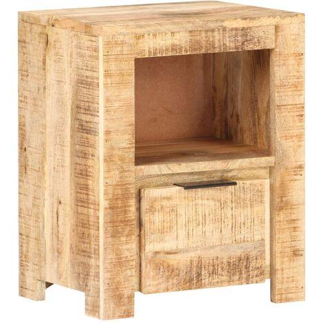 vidaXL Table de Chevet Table de Nuit Armoire de Lit Armoire de Chevet avec 1 Compartiment et 1 Tiroir Chambre à Coucher Mobilier Matériaux Divers