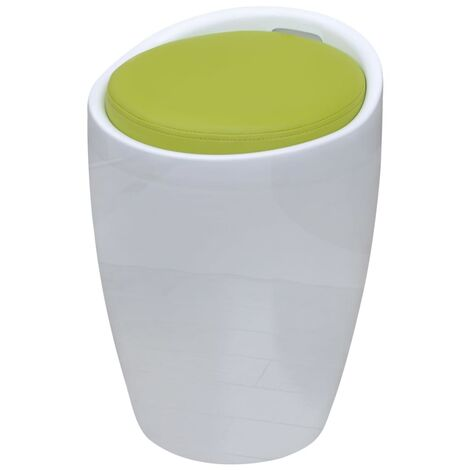 vidaXL Tabouret de Bar avec Siège Amovible Cuir Artificiel Tabouret de Rangement Meubles de Stockage Chaise de Bar Moderne Multicolore