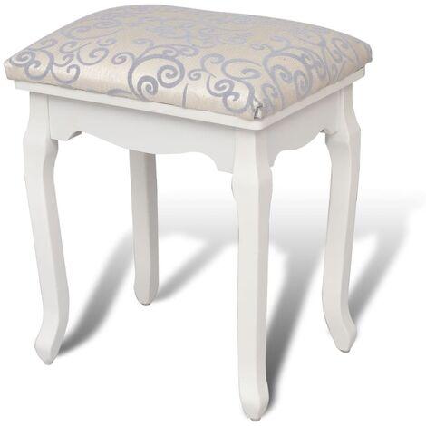 vidaXL Tabouret de Coiffeuse Tissu Tabouret de Table de Maquillage Table de Toilette Cosmétique Chambre Maison Intérieur Multicolore