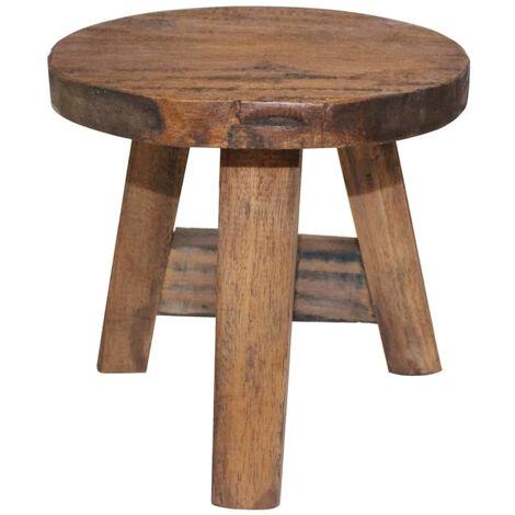 vidaXL Taburete de madera maciza reciclada 20x20x23 cm